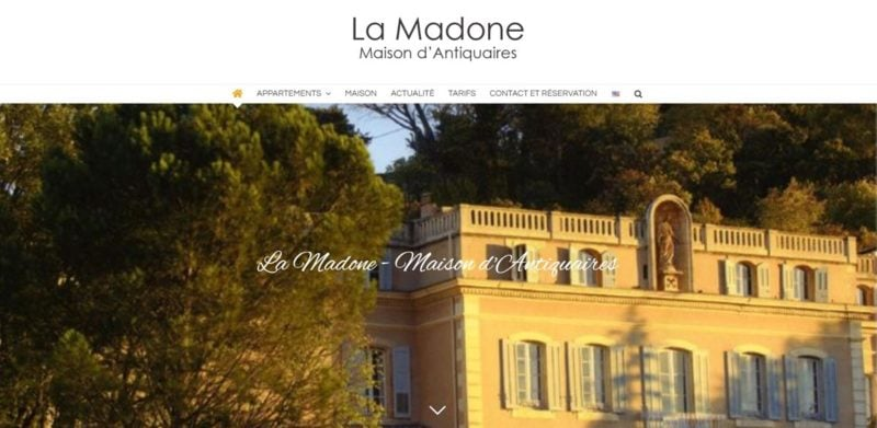 Site internet de La Madone
